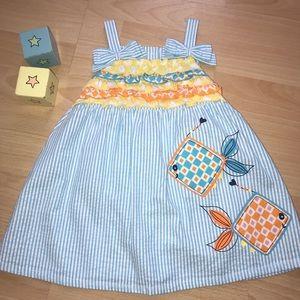 Nursery Rhyme seersucker dress & bloomers